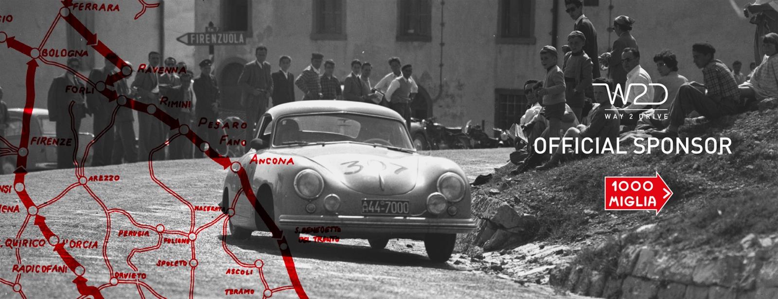 W2D official sponsor Mille Miglia