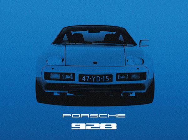 Porsche 928 Blue.
