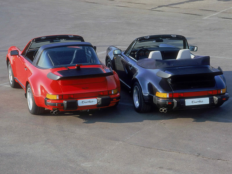 911 Turbo 3.3 Targa, 911 Turbo 3.3 Cabriolet (1987 - 1989)